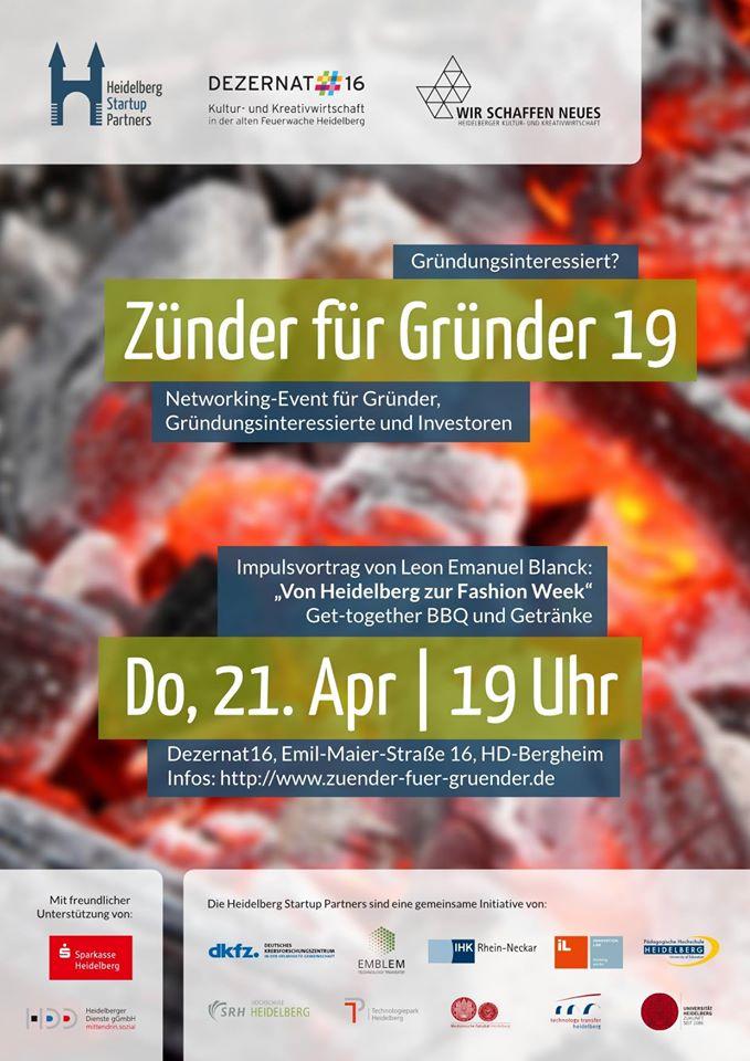Zünder für Gründer 19 in Heidelberg