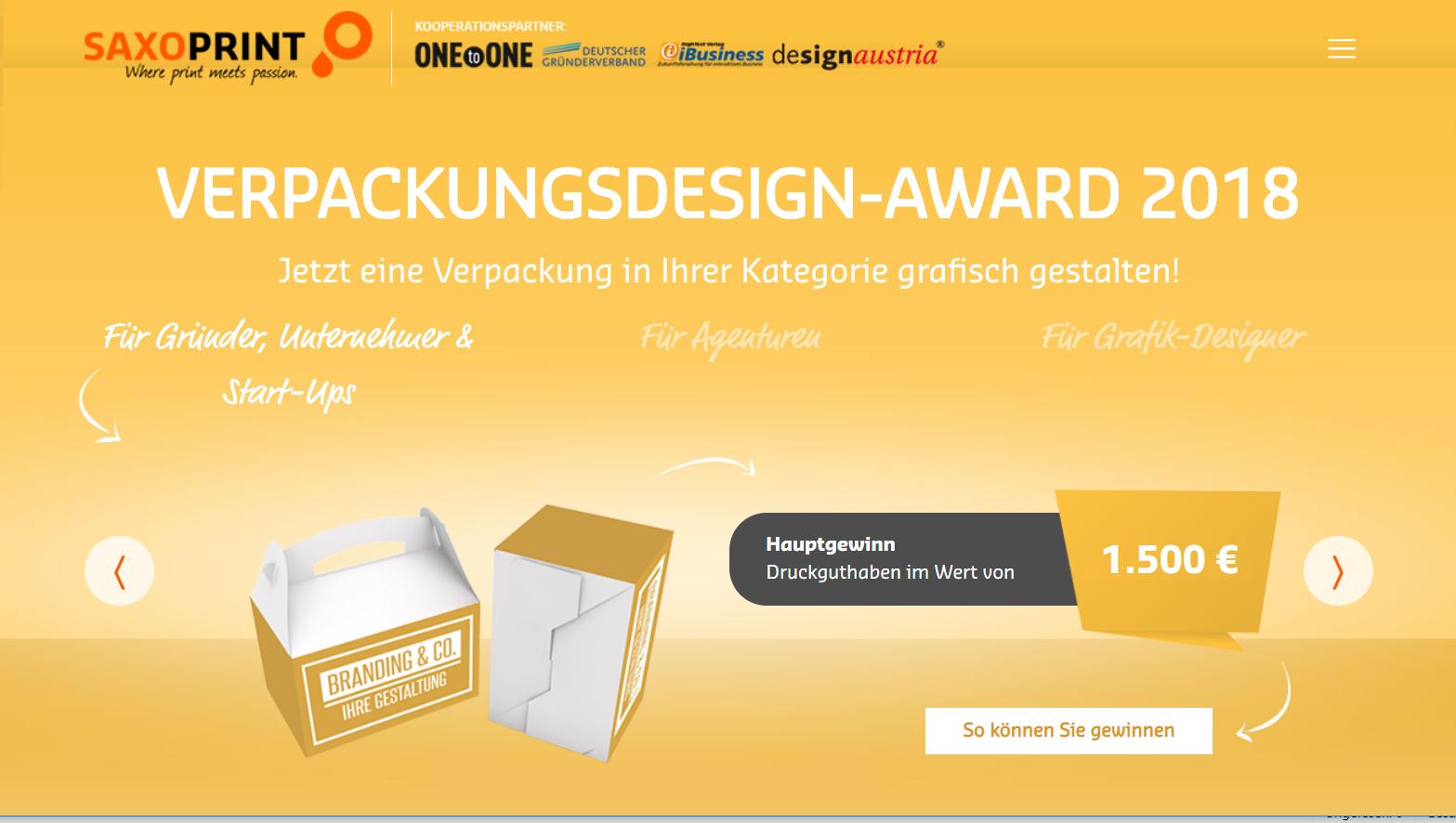 Verpackungsdesign-Award 2018